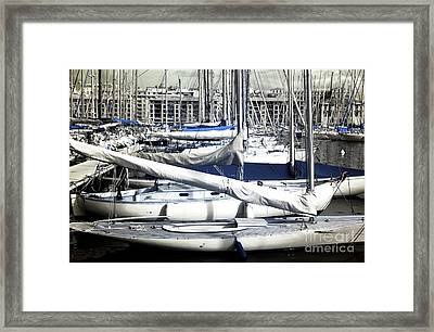 Choices In The Port Framed Print by John Rizzuto