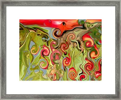 Chokecherry Abstract  Framed Print by Michelle  BarlondSmith