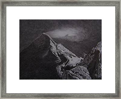 Chomolungma Framed Print by Nick Young
