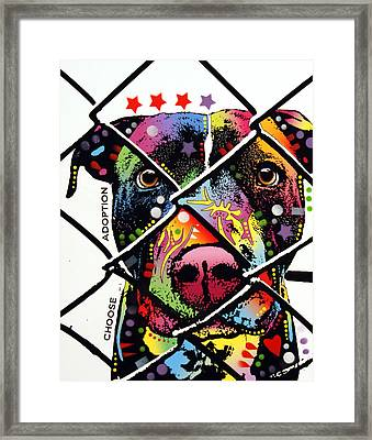 Choose Adoption Pit Bull Framed Print by Dean Russo