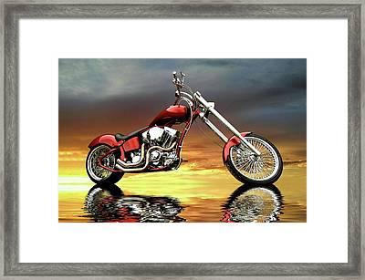 Chopper Framed Print by Steven Agius