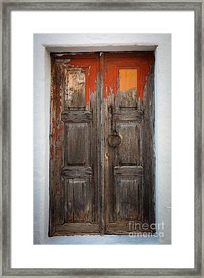 Chora Door Framed Print by Inge Johnsson