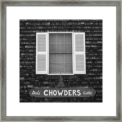 Chowders Cafe Framed Print by Joseph Smith