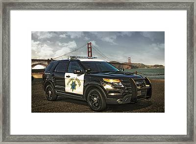 Chp Police Interceptor Utility Vehicle Framed Print by Mountain Dreams