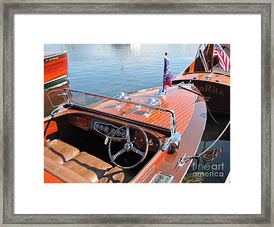 Chris Craft Custom Runabout Framed Print by Neil Zimmerman
