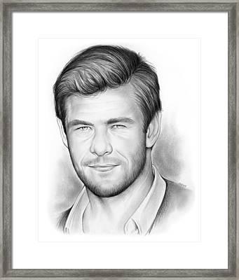 Chris Hemsworth Framed Print by Greg Joens
