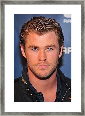 Chris Hemsworth In Attendance Framed Print by Everett