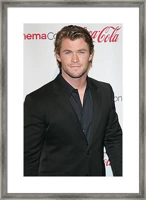 Chris Hemsworth In Attendance For 2011 Framed Print by Everett