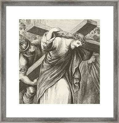 Christ Carrying His Cross Framed Print by English School