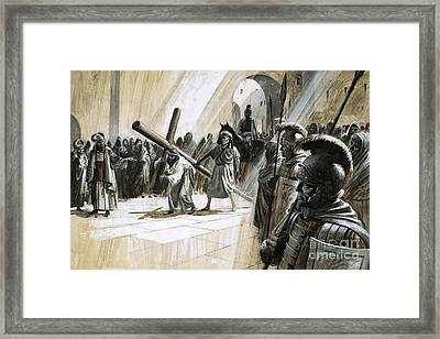 Christ Carrying The Cross Framed Print by Andrew Howat