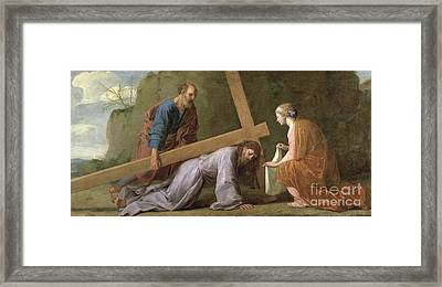 Christ Carrying The Cross Framed Print by Eustache Le Sueur