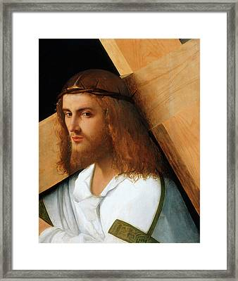 Christ Carrying The Cross Framed Print by Giovanni Bellini