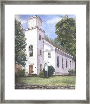Christ Church Framed Print by Katherine  Berlin