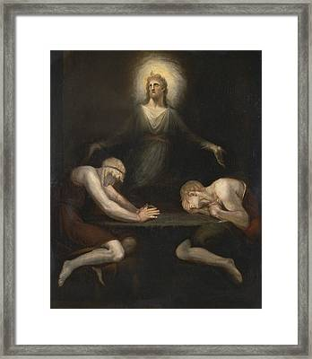 Christ Disappearing At Emmaus Framed Print by Henry Fuseli