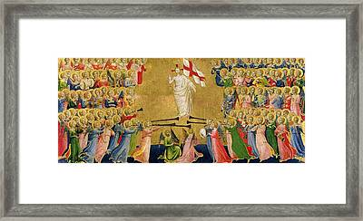 Christ Glorified In The Court Of Heaven Framed Print by Fra Angelico