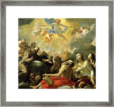 Christ In Glory With The Saints Framed Print by Mattia Preti