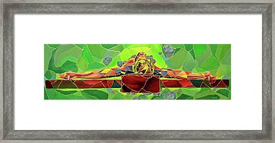 Christ In Stained Glass Framed Print by Kevin Davidson
