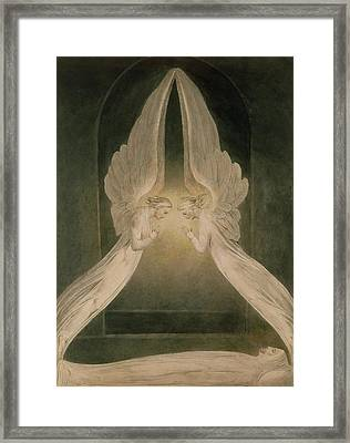 Christ In The Sepulchre Guarded By Angels Framed Print by William Blake