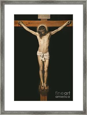 Christ On The Cross Framed Print by Diego Velasquez
