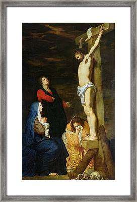 Christ On The Cross Framed Print by Gerard de Lairesse