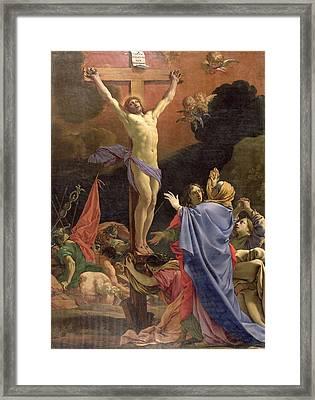 Christ On The Cross Framed Print by Michel Dorigny
