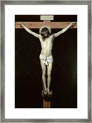 Christ On The Cross Framed Print by Velazquez