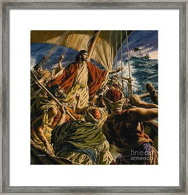 Christ On The Sea Of Galilee Framed Print by Jack Hayes