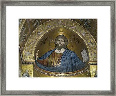 Christ Pantocrator Framed Print by Erik Falkensteen