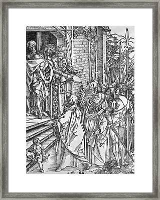 Christ Presented To The People Framed Print by Albrecht Durer