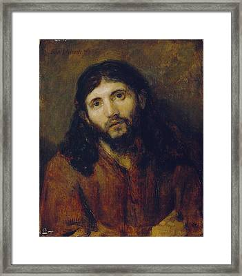 Christ Framed Print by Rembrandt Harmensz van Rijn