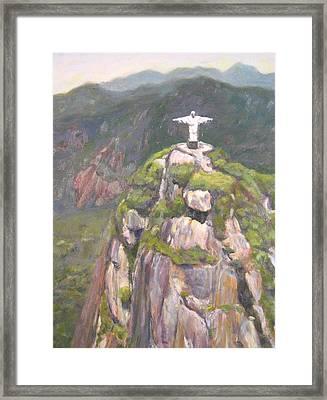 Christ The Redeemer Framed Print by Robie Benve