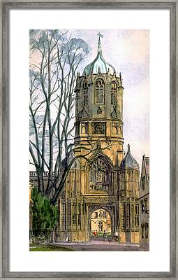 Christchurch College Oxford Framed Print by Mike Lester