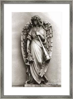 Christian Angel Art Photos - Archangel Gabriel Angel Art Photography Framed Print by Kathy Fornal