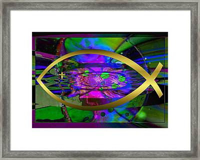 Christian Fish Ichthus Framed Print by Robert Kernodle