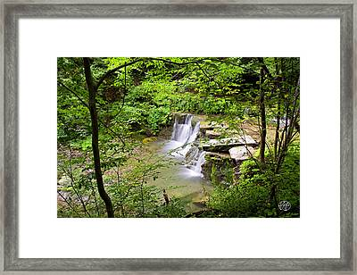Christian Hollow Waterfall Framed Print by Brad Hoyt