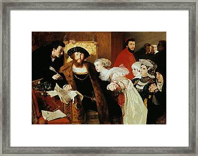 Christian II Signing The Death Warrant Of Torben Oxe Framed Print by Eilif Peterssen