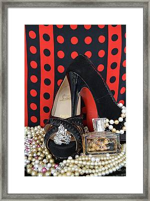 Christian Louboutin And Dior Framed Print by To-Tam Gerwe