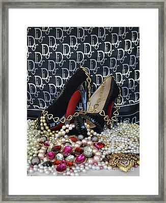 Christian Louboutin Shoes 3 Framed Print by To-Tam Gerwe