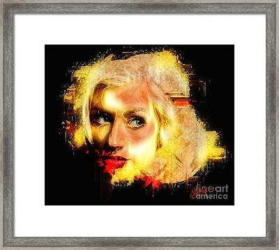 Christina Aguilera - All Thoughts Framed Print by Sir Josef - Social Critic - ART