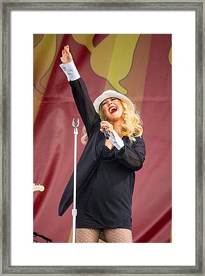 Christina Aguilera Jazz Fest Framed Print by Terry Finegan