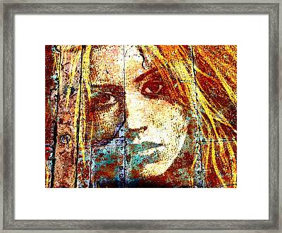 Christina Aguilera Framed Print by Otis Porritt