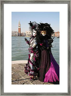 Christine And Gunilla Across St. Mark's  Framed Print by Donna Corless