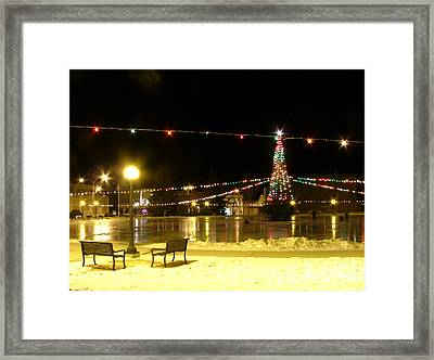 Christmas At The Anaconda Commons Framed Print by Katie LaSalle-Lowery