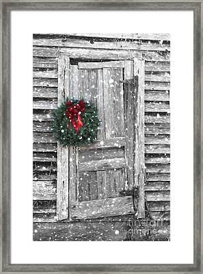 Christmas At The Farm Framed Print by Benanne Stiens