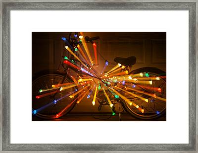 Christmas Bike Abstract Framed Print by Garry Gay