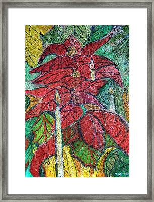 Christmas Candlelight Framed Print by Mindy Newman