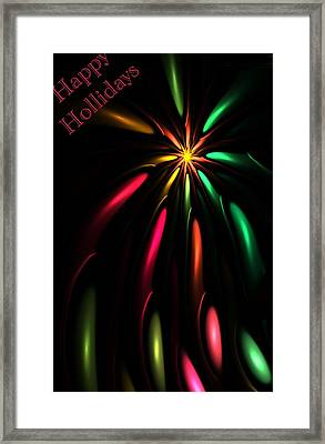 Christmas Card 110810 Framed Print by David Lane