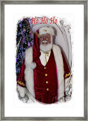 Christmas Card - Ho Ho Ho Framed Print by Al Bourassa