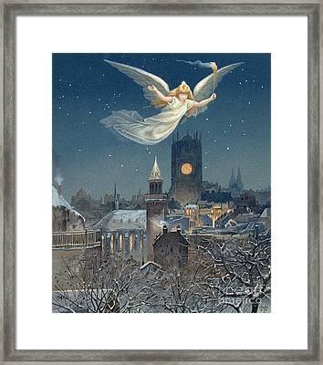 Christmas Card Framed Print by Thomas Moran