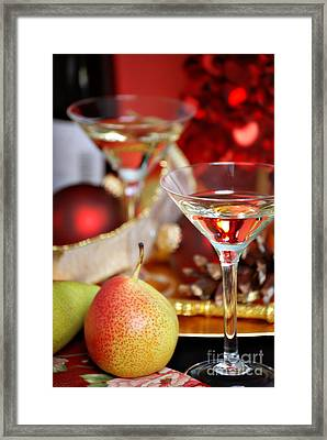 Christmas Cocktails Framed Print by HD Connelly